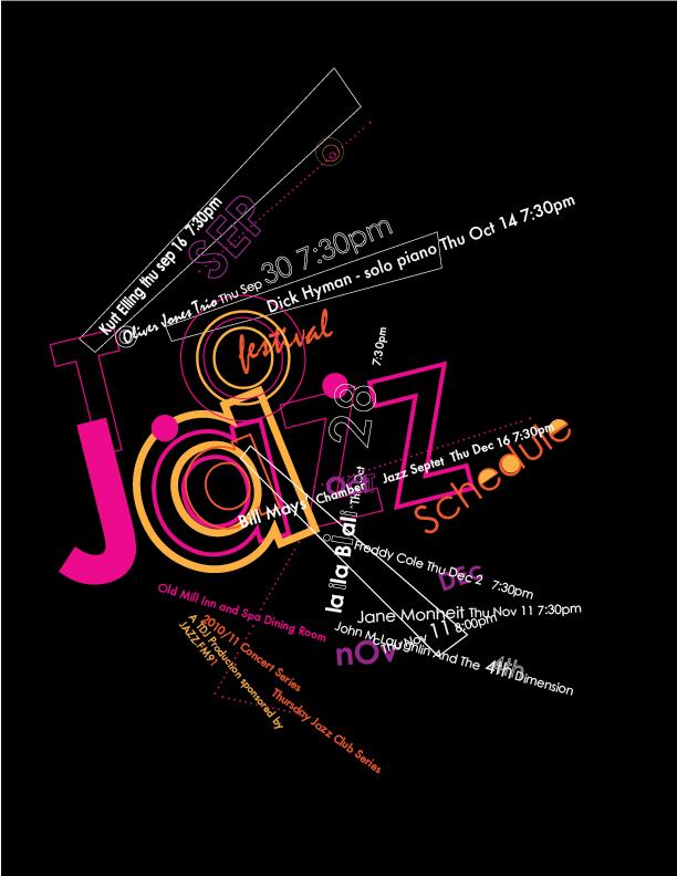 Jazz Typographic Poster Irina Braginsky