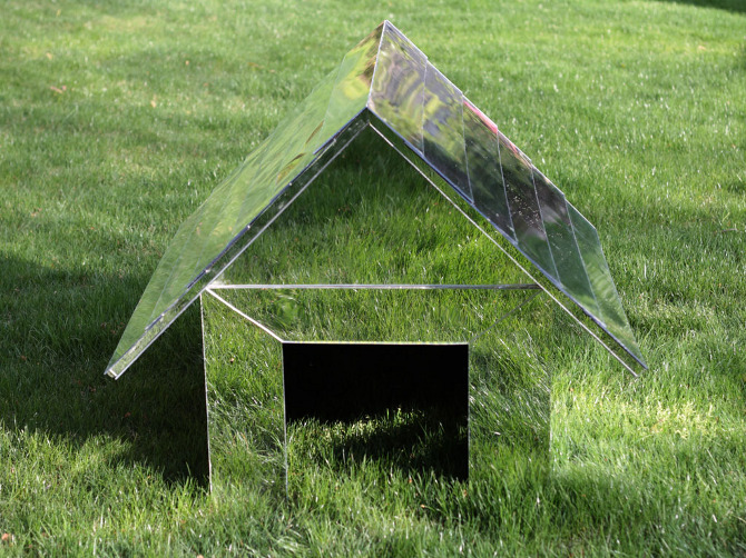 Mirror sided dog house robert tepper graphic design - Underground dog houses ...
